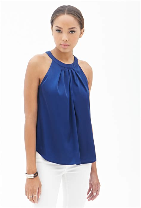 Sophisticated Urban Style Summer Outfit Halter Tops - Lava360