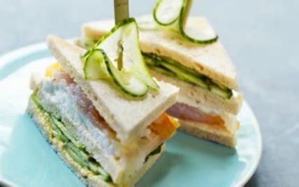 recette club sandwich aux concombre de france  haddock