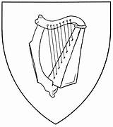 Harp Drawing Coloring Pages Celtic Zither Ireland Results Getdrawings Mistholme Symbol sketch template
