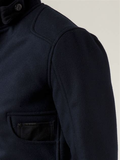 lyst  star raw raw radar garber jacket  blue  men
