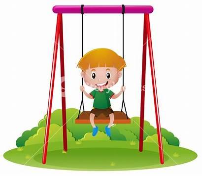 Swing Clipart Play Outdoor Swings Boy Illustration
