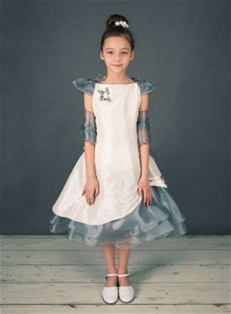 fin de stock robe de mariage fille pas chere grise