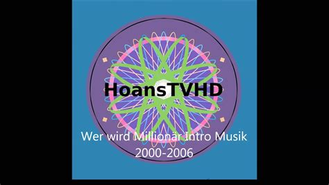 Wer wird Millionär Intro Musik 2000-2008 - YouTube