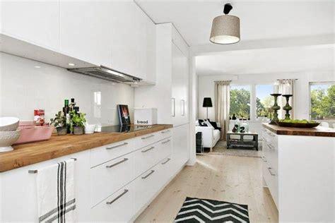 cuisines blanches et bois cuisine blanche et bois deco appartement