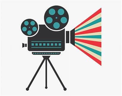 Projector Cinema Film Vector Clipart Camera Creative