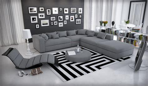 Canapé D'angle Cuir Modulable Design Et Moderne Bolonia