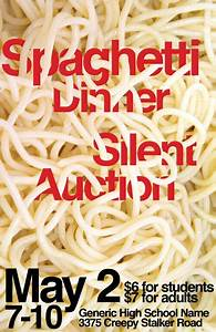 Spaghetti Dinner Poster   Spaghetti dinner, Sell tickets ...