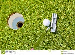 Golf Player Putting Ball In Hole Stock Photos - Image ...