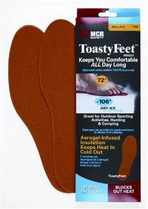 MCR Safety CTFM Toasty Feet Mens Shoe insoles Infused with ...