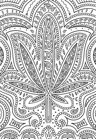 trippy weed coloring page  printable coloring pages