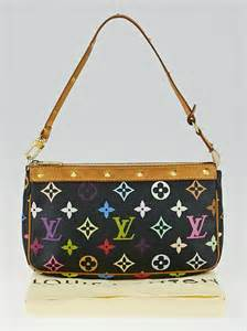 louis vuitton black monogram multicolor accessories