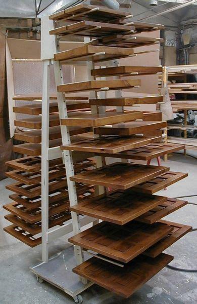 cabinet door finishing racks shop built drying racks