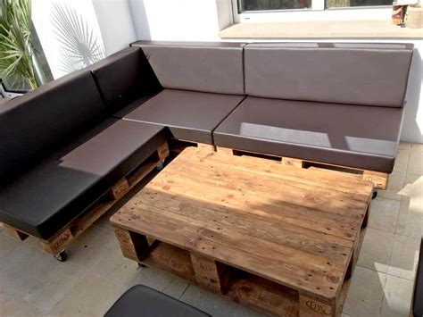 pallet sectional sofa pallet sectional sofa set with black cushion 101 pallets
