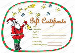 Christmas Gift Certificate Template - 16+ Word, PDF ...