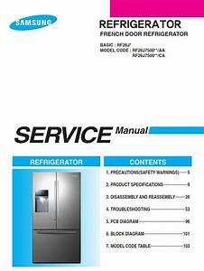 Samsung Rf26j7500 Rf26j7500sr Refrigerator Service Manual