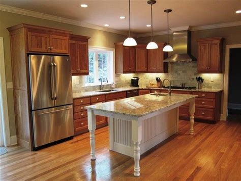 cherry oak cabinets kitchen kitchen with oak cabinets stainless appliances gray 5376