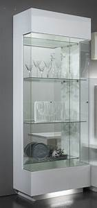 Vitrine Blanc Laqué : vitrine 1 porte lux laque blanc ~ Teatrodelosmanantiales.com Idées de Décoration