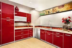 Modern Kitchen Cabinet Red