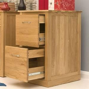 Contempo Oak Oak Filing Cabinet