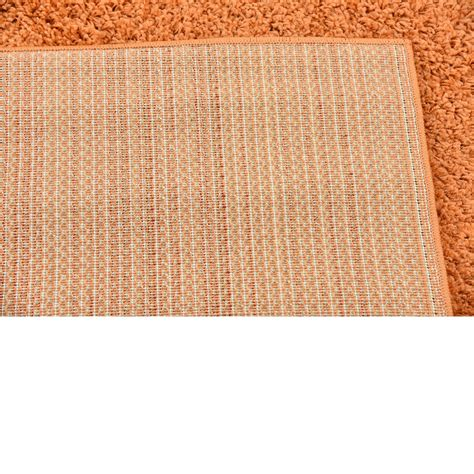Plain Area Rug by Plain Soft Shaggy Area Rugs 9 10 X 13 0 Orange Solid
