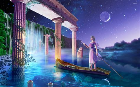 fantasy waterfall wallpapers  background images stmednet