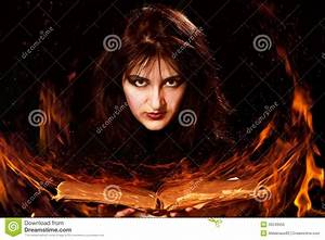 Woman With A Magic Book Stock Photo - Image: 39249955