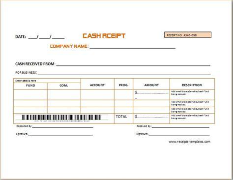 Business Cash Receipt Template-2