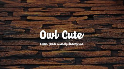 owl cute font    desktop webfont