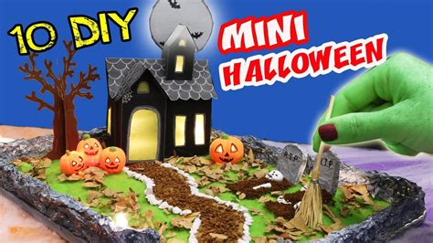 diy miniature halloween haunted house zen garden