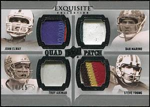 2010 Upper Deck Exquisite Collection Patch Quads #AEYM ...