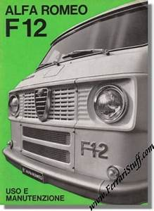 1967 Alfa Romeo F12 Owners Manual