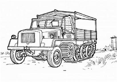Coloring Pages Military Army Truck Vehicles Adult