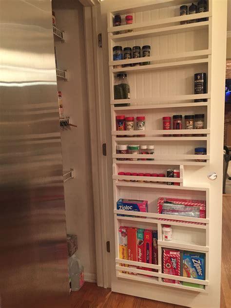 Kitchen Pantry Rack by Diy Pantry Door Spice Rack Bigmo Goods In 2019 Door