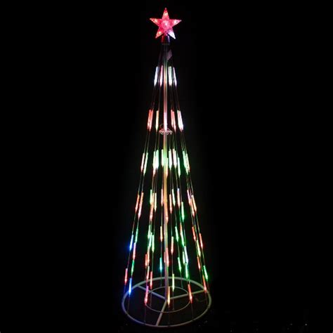 4 led color changing tree with lawn stakes of 2