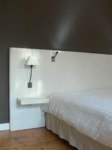 Tete De Lit Led : bien fabriquer une tete de lit en bois 13 tete de lit tablette digpres ~ Teatrodelosmanantiales.com Idées de Décoration