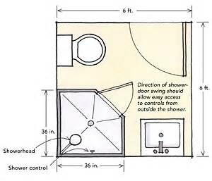 Convert Shower To Tub Shower Combo by Designing Showers For Small Bathrooms Fine Homebuilding
