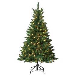 shop holiday living 4 5 ft indoor outdoor pre lit pine artificial christmas tree with 200 count