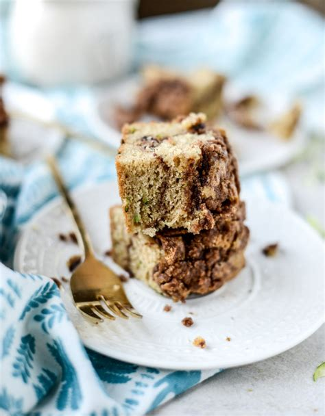 It cuts into 8 pieces rather. Zucchini Bread Coffee Cake. | How Sweet It Is