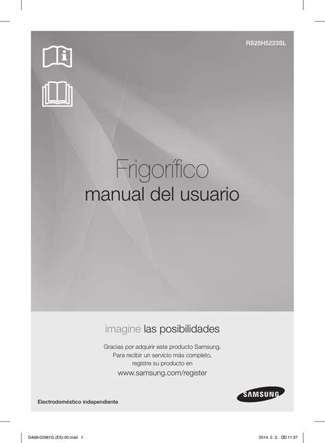 Samsung RS25H5223SL Manual de Usuario Manualzz