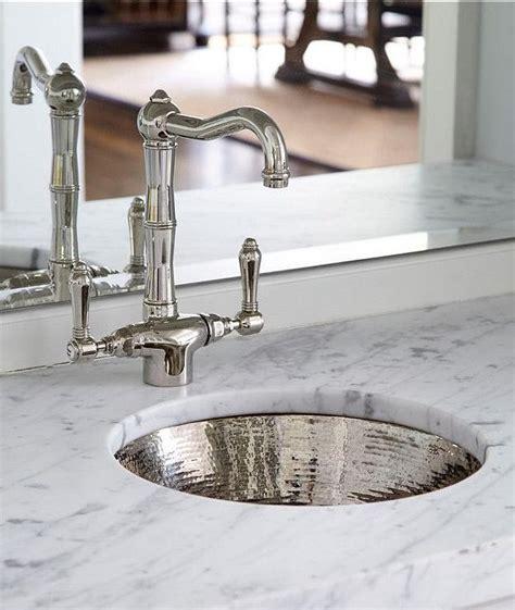 hammered metal bar sink  vintage faucet
