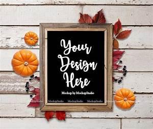 Fall, Farm, Wood, Sign, Mock, Up, Autumn, Farmhouse, Sign, Wood, Frame