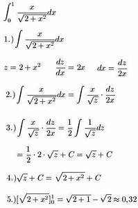 Integration Berechnen : integration durch substitution l sungen ~ Themetempest.com Abrechnung