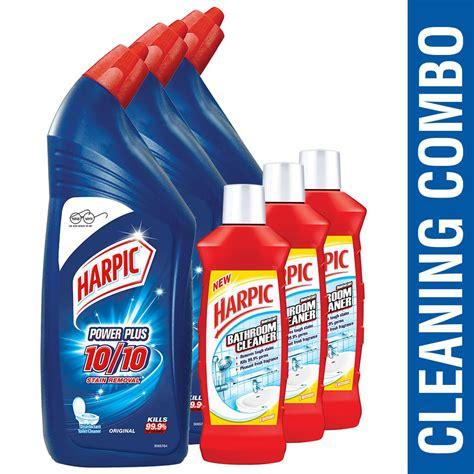 harpic cleaner toilet bathroom orange cleaning liquid power india disinfectant plus ml lemon prices