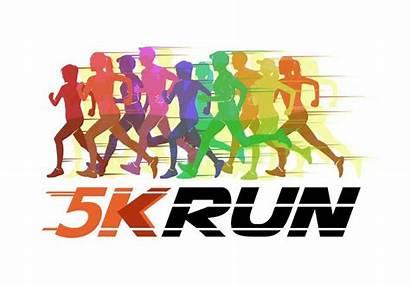 5k Running Vector Silhouette Illustration Run Walk
