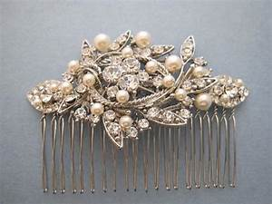 Vintage Style Bridal Hair CombCrystal Rhinestone And