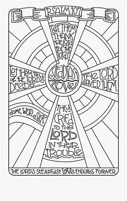 Coloring Psalm Psalms Mandala Simplified Children Cartoon