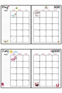 February 2020 Calendar Clip Art 2020 Calendar Printable Free Printable 2020 Monthly Calendar