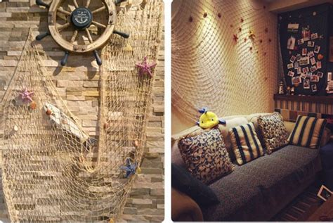 With something as simple as an accent wall, colorful light bulb, or new throw pillow (or forty. New Style Wall Decor: Mediterranean Style Decorative Fish Net