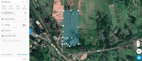 aplicativos de voo automatizado  mapeamento aereo