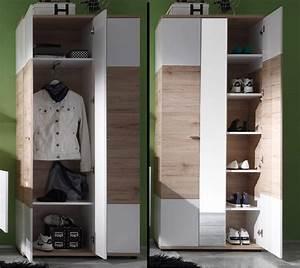 Garderobe 3 Teilig : garderobe campus eiche wei g nstig online kaufen ~ Indierocktalk.com Haus und Dekorationen